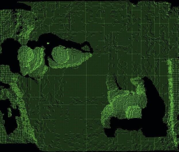 3D-модель наблюдаемой области с сенсора подсчета