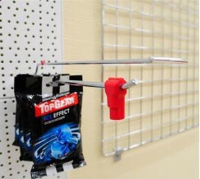 крючки с защитным фиксатором для перфорированных панелей