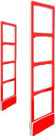 Противокражная система Detex Line Elit45 LX в красном цвете